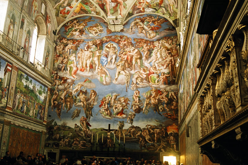 Friday - Popeworld - Sistine Chapel - The Last Judgement